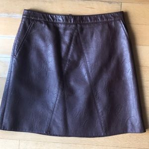 Like new! Zara leather skirt